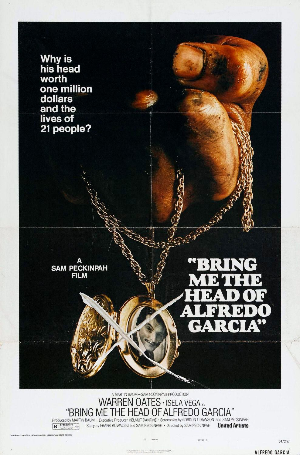Quiero la cabeza de Alfredo García. Sam Peckinpah. Warren Oates. Bring me the head of Alfredo Garcia