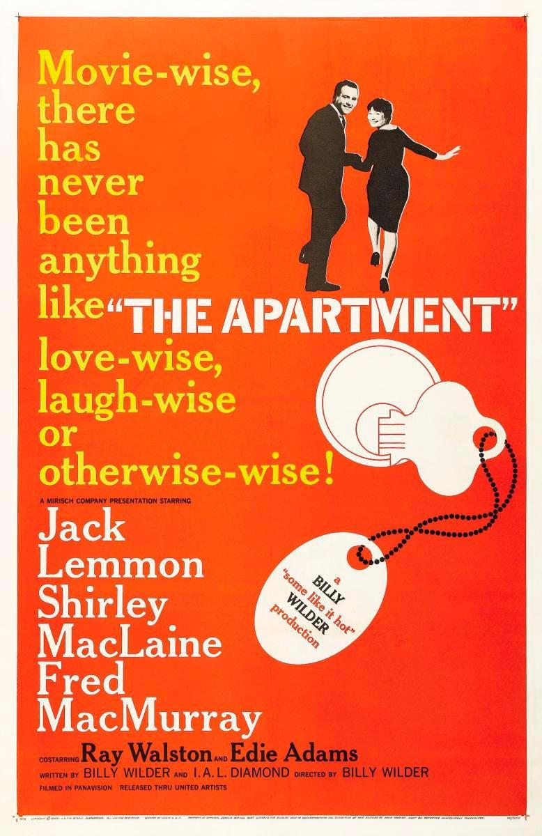 el apartamento the apartment piso de soltero billy wilder poster