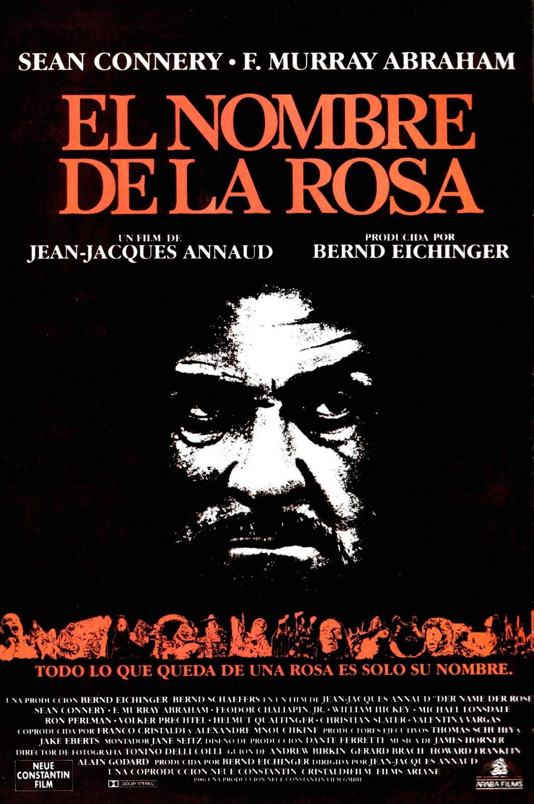 el nombre de la rosa der name der rose poster