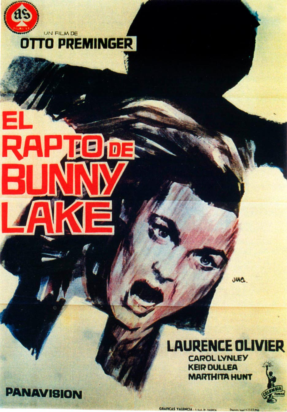 el rapto de bunny lake bunny lake is missing