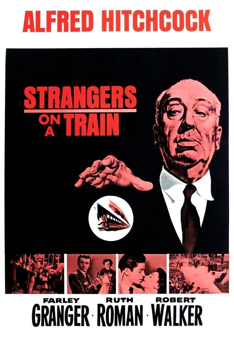 Otro cartel de la película, esta vez con Hitchcock como principal reclamo