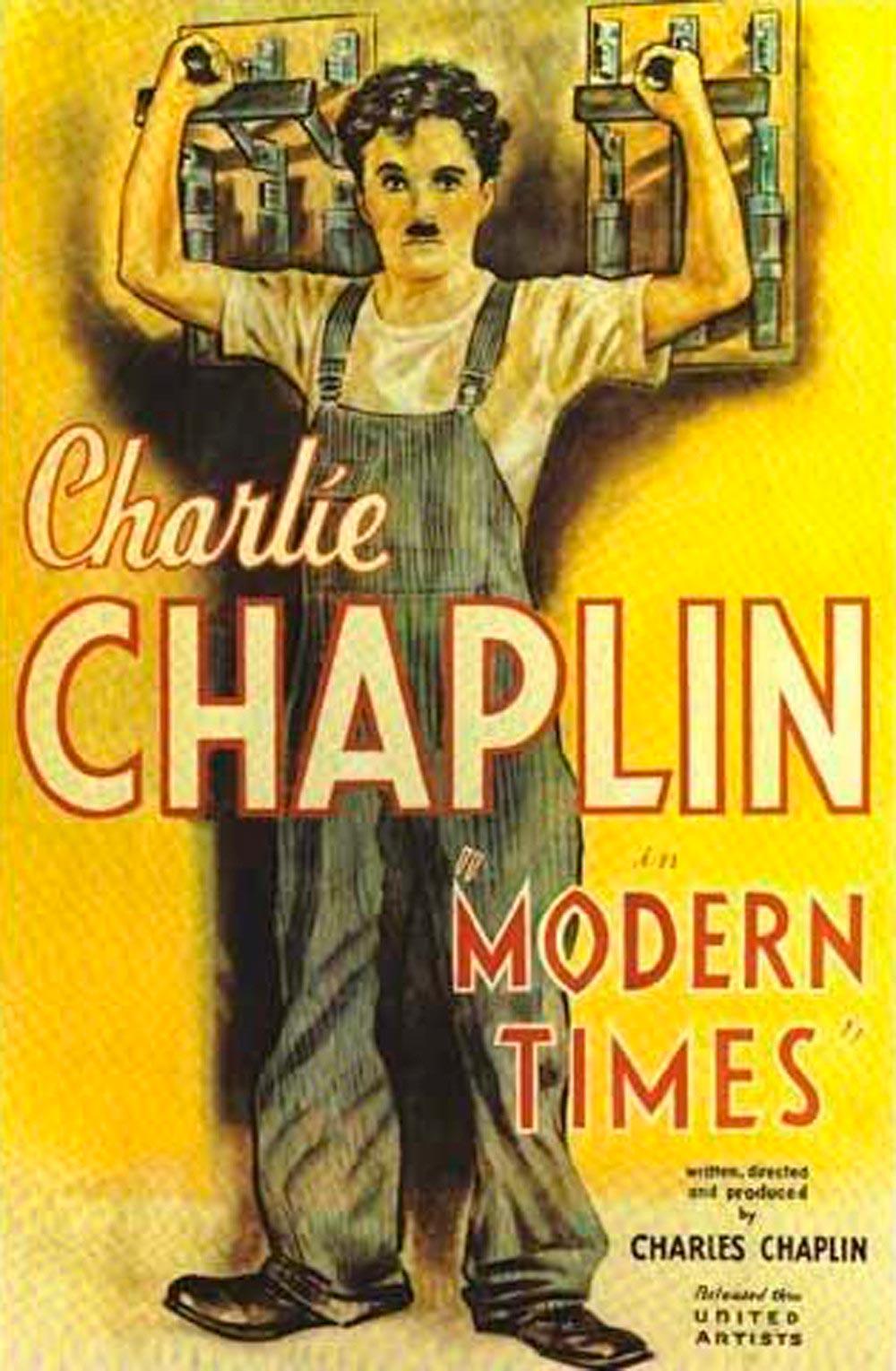 tiempos modernos modern times poster