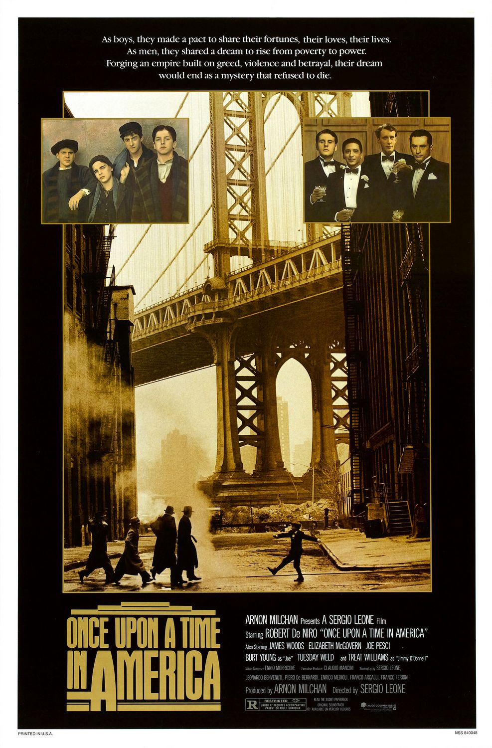 erase una vez en america once upon a time in america poster